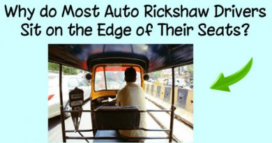 Why do most autorickshaw drivers sit on the edge